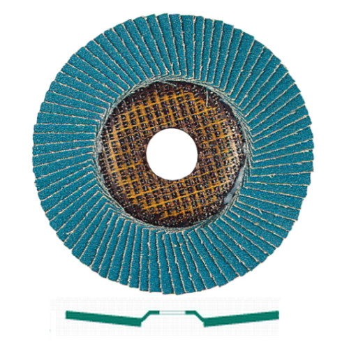 Metabo 656435000-10 6 in. ZA60 Type 29 Zirconia Alumina Flap Discs (10-Pack)