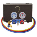 Mastercool 89660-PRO5 R134A Aluminum 2-Way Manifold Gauge Set with Can Tap Valve