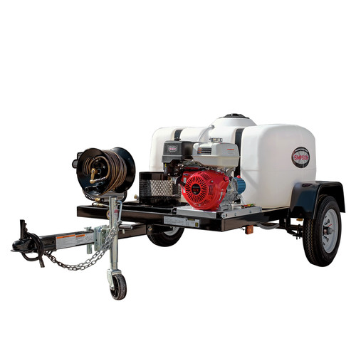Simpson 95002 Trailer 4200 PSI 4.0 GPM Cold Water Mobile Washing System Powered by HONDA image number 0