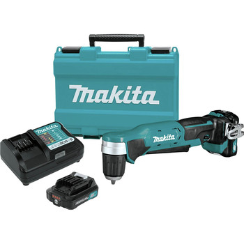 Makita AD04R1 12V max CXT Lithium-Ion 3/8 in. Cordless Right Angle Drill Kit (2 Ah)