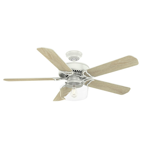 Casablanca 55082 54 in. Panama Fresh White Ceiling Fan with LED Light Kit and Wall Control image number 0