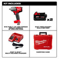 Milwaukee 2861-22 M18 FUEL 1/2 in. Mid-Torque Impact Wrench Kit with Friction Ring image number 7