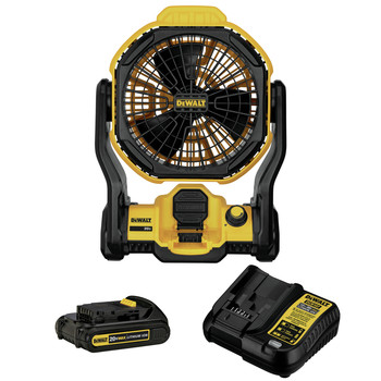 Factory Reconditioned Dewalt DCE511C1R 20V MAX Lithium-Ion 11 in. Corded/Cordless Jobsite Fan Kit (1.5 Ah)