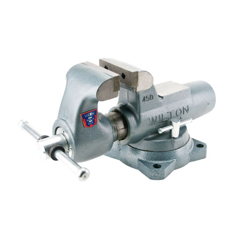 Wilton 10036 800S, Machinists' Bench Vise - Swivel Base, 8 in. Jaw Width, 12 in. Jaw Opening, 5-13/16 in. Throat Depth image number 1