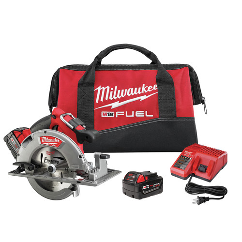 Milwaukee 2731-22 M18 FUEL 18V Cordless Lithium-Ion 7-1/4 in. Circular Saw Kit with 2 Batteries