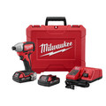 Factory Reconditioned Milwaukee 2750-82CT M18 1/4 in. Hex Cordless Lithium-Ion Compact Brushless Impact Driver Kit image number 2