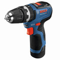 Bosch GSB12V-300B22 12V Max Brushless Lithium-Ion 3/8 in. Cordless Hammer Drill Driver Kit (2 Ah) image number 1