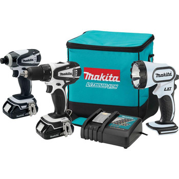 Factory Reconditioned Makita LCT300W-R 18V Cordless Lithium-Ion 3-Tool Combo Kit