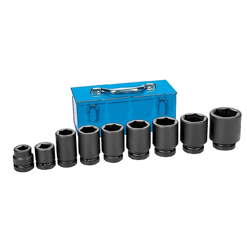 Grey Pneumatic 9161D 1 in. Drive 9 Pc. Standard and Deep Combo Large Truck/OTR Set