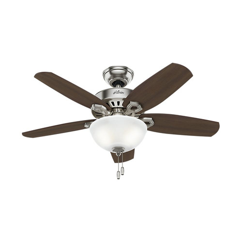Hunter 52219 42 in. Builder Small Room Brushed Nickel Ceiling Fan with Light image number 0