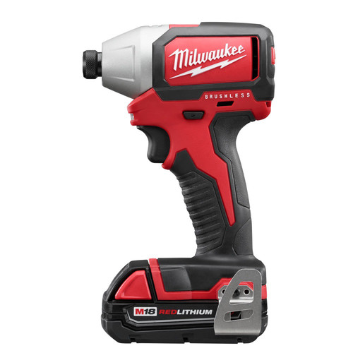 Milwaukee 2750-22CT M18 1/4 in. Hex Cordless Lithium-Ion Compact Brushless Impact Driver Kit