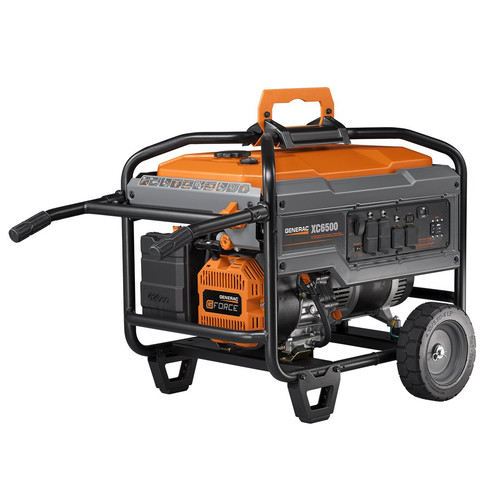 Generac 6825 XC6500E 6,500 Watt Gas Portable Generator with Electric Start (Non-CARB) image number 1