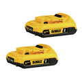 Dewalt DCB203-2 20V MAX XR 2 Ah Lithium-Ion Compact Battery (2-Pack)
