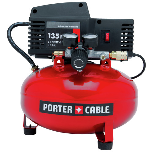 Factory Reconditioned Porter-Cable PCFP02003R 135 PSI 3.5 Gallon Oil-Free Pancake Compressor image number 1