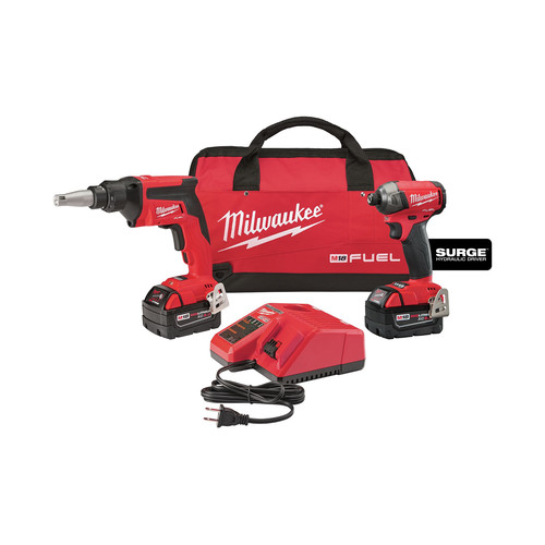 Milwaukee 2896-22 M18 FUEL 5.0 Ah Cordless Lithium-Ion 2-Tool Combo Kit image number 0