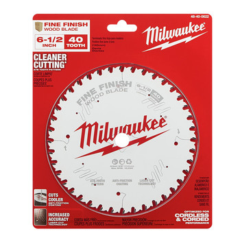 Milwaukee 48-40-0622 6-1/2 in. 40T Fine Finish Circular Saw Blade image number 1