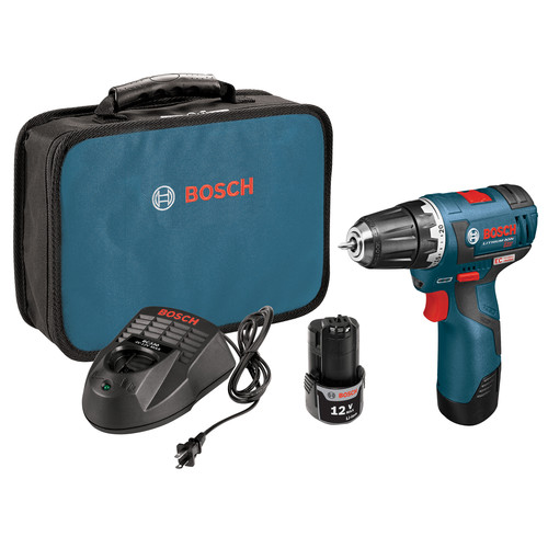 Bosch PS32-02 12V Max Cordless Lithium-Ion 3/8 in. Brushless Drill Driver Kit