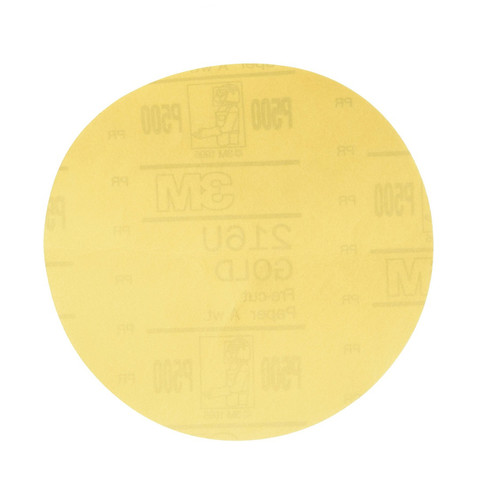 3M 972 Hookit Gold Disc, 6 in., P500A (100-Pack)