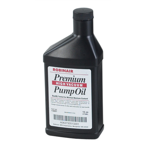 Robinair 13119 12-Piece 16 oz. Premium High Vaccum Pump Oil image number 0
