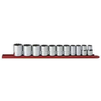 KD Tools 80711 11-Piece 1/2 in. Drive 12 Point Standard SAE Socket Set