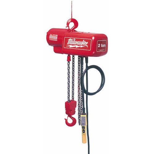 Milwaukee 9565 1 Ton Electric Chain Hoist with 10 ft. Lift Height