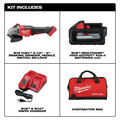 Milwaukee 2980-22 M18 FUEL 4-1/2 in. - 6 in. Braking Grinder Kit with No-Lock Paddle Switch & (2) 6 Ah Li-Ion Batteries image number 1