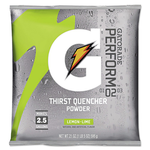 Gatorade 3969 21 oz. G2 Low Calorie Powdered Drink Mix (Lemon-Lime) (32-Pack)