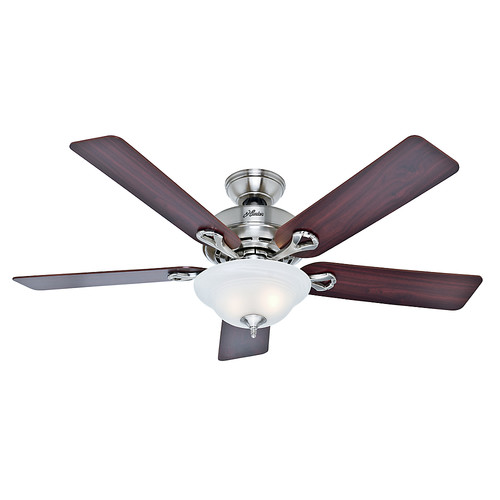 Hunter 53047 52 in. Kensington Brushed Nickel Ceiling Fan with Light image number 0
