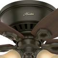 Hunter 51091 42 in. Builder Low Profile New Bronze Ceiling Fan with Light image number 10