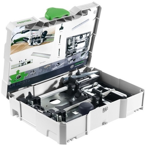 Festool LR 32 Hole Drilling Set with T-Loc Systainer for OF 1010 and OF 1400