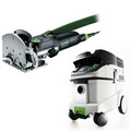 Festool DF 500 Q Domino Mortise and Tenon Joiner Set with CT 36 E 9.5 Gallon HEPA Mobile Dust Extractor