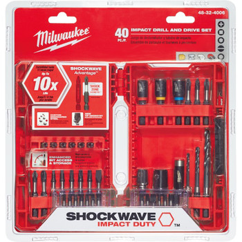 Milwaukee 48-32-4006 SHOCKWAVE 40 Pc Drill and Drive Bit Set