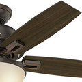 Hunter 52225 44 in. Donegan Onyx Bengal Ceiling Fan with Light image number 9