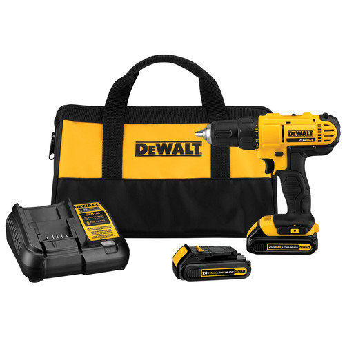 Factory Reconditioned Dewalt DCD771C2R 20V MAX Cordless Lithium-Ion 1/2 in. Compact Drill Driver Kit