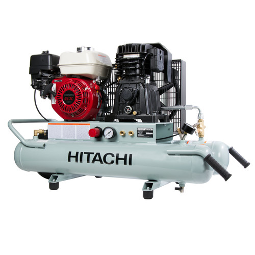 Hitachi EC2610E Portable 8 Gallon Gas Powered Wheelbarrow Air Compressor