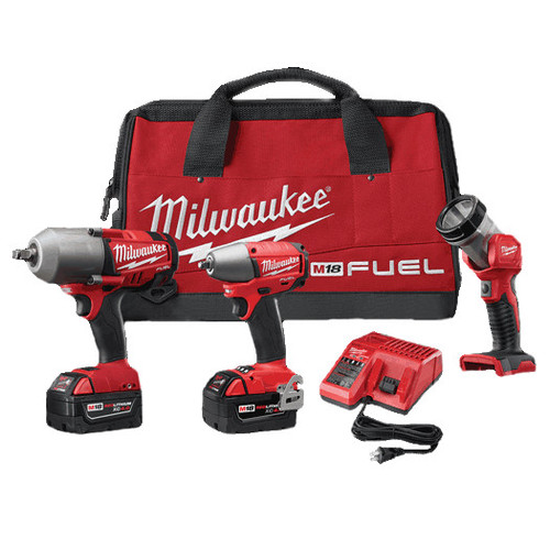Milwaukee 2796-23 M18 FUEL Cordless Lithium-Ion 3-Tool Combo Kit