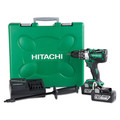 Hitachi DV18DBL2 18V Cordless Lithium-Ion 1/2 in. Hammer Drill Kit with (2) 6.0 Ah Batteries