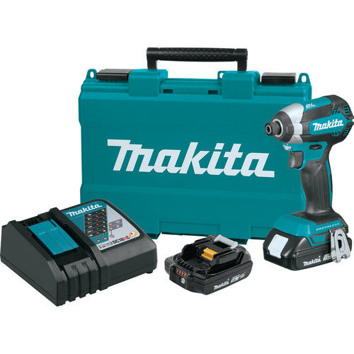 Factory Reconditioned Makita XDT13R-R 18V LXT Lithium-Ion Brushless 1/4 in. Hex Impact Driver Kit (2.0 Ah) image number 0