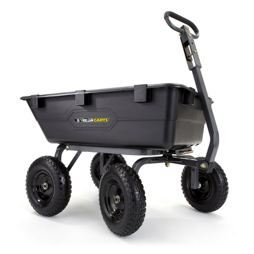 Gorilla Carts GOR6PS 1,200 lb. Capacity Poly Garden Dump Cart image number 0