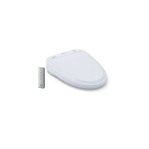 TOTO SW583#01 Washlet S350e Round Bidet Toilet Seat with Auto Open and Close and ewaterplus (Cotton White) image number 0