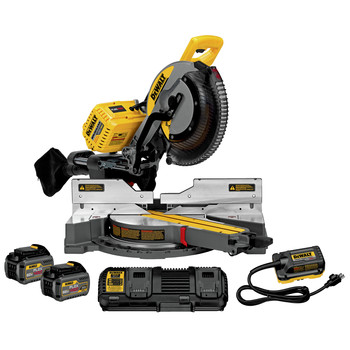 Factory Reconditioned Dewalt DHS790AT2R FLEXVOLT 120V MAX Brushless Lithium-Ion 12 in. Cordless Double Bevel Compound Silding Miter Saw Kit (6 Ah)