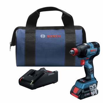Factory Reconditioned Bosch GDX18V-1800CB15-RT 18V EC Brushless Lithium-Ion 1/4 in. and 1/2 in. Cordless Two-In-One Socket Impact Driver Kit (4 Ah)