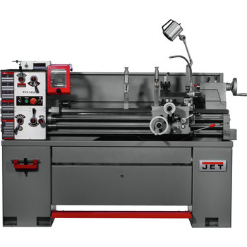 JET 311450 EVS-1440 14 x 40 in. 230/460V 3 HP 3-Phase Variable Speed Lathe with Newall DP700 DRO and Taper Attachment