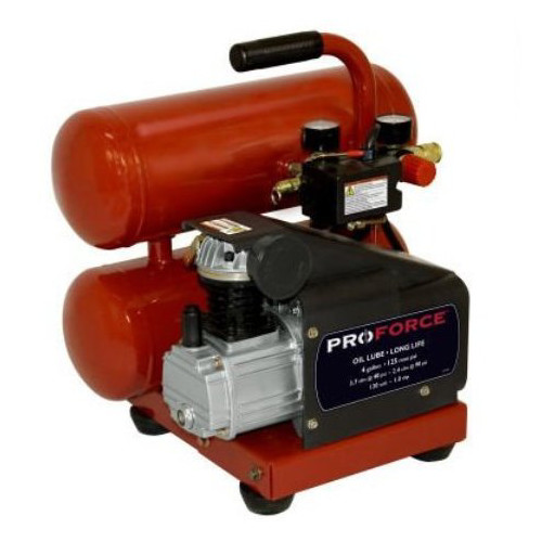 ProForce VSF1080421 4 Gallon Twin Stack Air Compressor