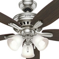 Hunter 53318 52 in. Newsome Brushed Nickel Ceiling Fan with Light image number 6