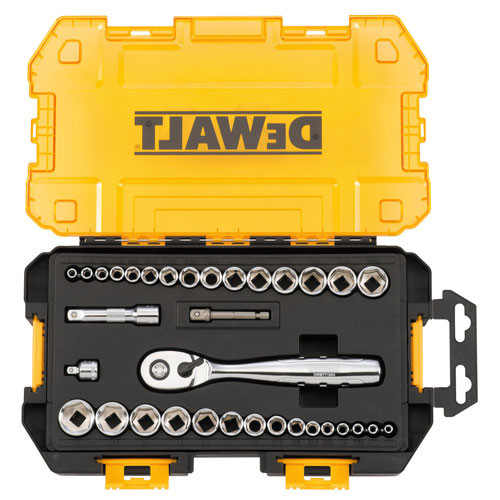 Dewalt DWMT73804 34-Piece Stackable 1/4 in. and 3/8 in. Drive Socket Set