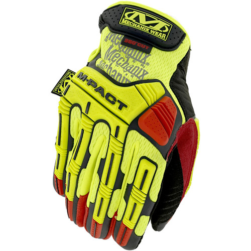 Mechanix Wear SMP-X91-010 Hi-Viz M-Pact D4-360 Gloves - Large, Fluorescent Yellow image number 0