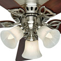 Hunter 53079 42 in. Beacon Hill Brushed Nickel Ceiling Fan with Light image number 2