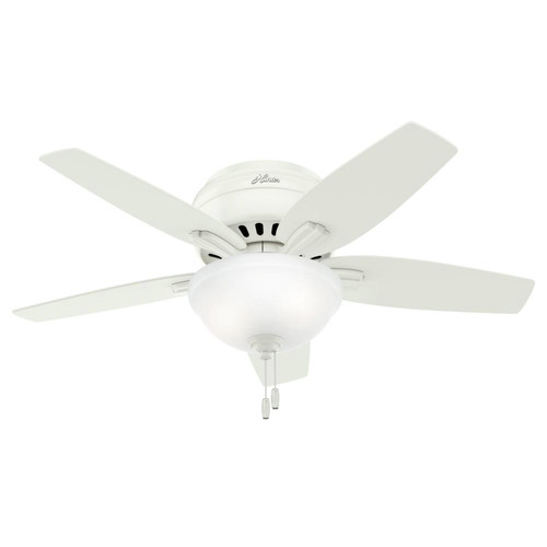 Hunter 51080 42 in. Newsome Fresh White Ceiling Fan with Light image number 0