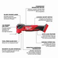 Milwaukee 2836-20 M18 FUEL Brushless Lithium-Ion Cordless Oscillating Multi-Tool (Tool Only) image number 2